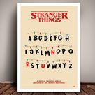 Print Stranger ThingsThe Upside DownRetro PosterA4//a3 Minimalist