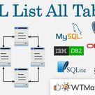 SQL List All Tables   WTMatter