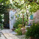 Backyard / Garten des Cafe Parisien in Arta / Mallorca