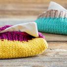 TaTüTa Taschentüchertaschen selber stricken aus Wollresten