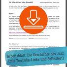Gratis-Download: Unterrichtsmaterial zur Geschichte des Jazz (Arbeitsblatt)