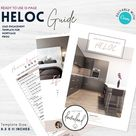 HELOC Guide for Mortgage Brokers   Mortgage Broker Marketing   Mortgage Templates   Editable CANVA   Instant Download   REFI   Home Equity