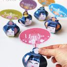 Boîtes cadeau Kokeshi Printable  poupées geishas    Etsy