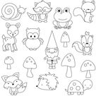 Woodland Pattern Sheets for Royal Icing Transfers