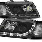 Paire de feux phares Audi A3 8l 96 00 Daylight led noir