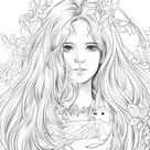 Girls with Music by m.o.m.o girl - Girls Coloring book by momogirl Korean Coloring Book vol.2