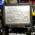 1970 Harley Davidson Metal Art