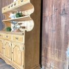 Vintage wood kitchen hutch, bakers cabinet, country style cabinet, farmhouse china Cabinet, shipping cost not included , high back dry sink