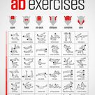 Ab exercises that require no equipment, in different intensities.