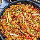 Asiapfanne mit Gemüse und gebratenen Nudeln - Einfaches Rezept - Chicken Chow Mein - instakoch.de