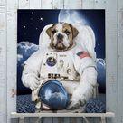 The second Astronaut male pet portrait   2 / Canvas Wrap 16x16