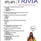 50's  60's Trivia   Etsy