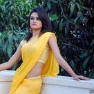 Smart Girl in Yellow Saree