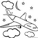 Avião para colorir - Blog Ana Giovanna