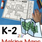 FREE Mapping Activities - kindergarten and first grade how to make a map