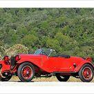 Photograph. Alfa Romeo 6C 1500 Sport Zagato Spider, 1928, Red