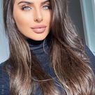 Brown Hair Colour Ideas for 2021 : Dark hair with low lights   fabmood