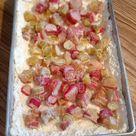 Rhubarb Custard Kuchen - One Homely House