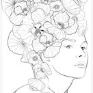 Beauty and nature edward ramos 3 - Zen and Anti stress Coloring Pages for Adults - Just Color