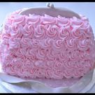 Handbag Buttercream Cake - Piping Buttercream Roses