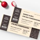 Meal Fundraiser Ticket Template [Free PDF] - Word | PSD | Apple Pages | Illustrator | Publisher
