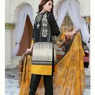 Ready to Wear Embroidered Lawn Pakistani Dresses for Women Shalwar, Kameez with Dupatta - Three Piece Set - Large