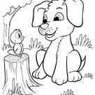 The Puppy Taking A Bubble Bath Coloring Page