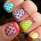 Stripes/Dots nail art