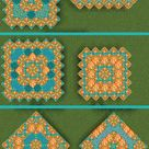 Today as requested I did some new designs using orange glazed terracotta :D