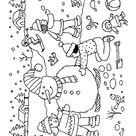 Coloriage enfants neige coloriage