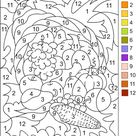 COLOR BY NUMBER * Thanksgiving Coloring page