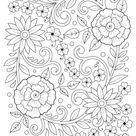 Flower Arrangement Adult Coloring Page Printable   Woo Jr. Kids Activities