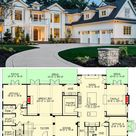Two-Story 5-Bedroom Traditional Colonial Home (Floor Plan)