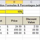 Excel Percentages & Absolute References