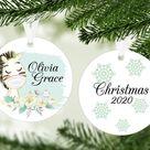 2020 Keepsake Ornament, Quarantine Christmas Ornament, Baby's First Christmas, Social Distancing, Qu
