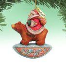 Holiday Ornaments  Christmas Ornaments  Santa on Bear   Etsy