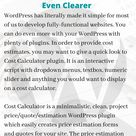 Cost Calculator – A WordPress Plugin to Make Price Quotes Even Clearer