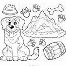 Bernard St Dog Supplies Pages Clipart Coloring Saint Mountains Prints Printable Clip Visekart Template Sketch Maid Cartoon Sketch Coloring Page