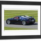 Bugatti Veyron Grand Sport, 2012, Black. Framed Photo. Bugatti Veyron Grand Sport 2012 Black.
