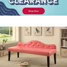 Darby Home Co Hambright Faux Leather Bench Upholstery: Pink, Bench, Leather/Solid + Manufactured Wood/Faux Leather, Size Large   Wayfair