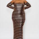 Gold Sequin Embellished Tube Dress - Matte Gold Sequin / 3X