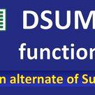 DSUM function in Excel   DSUM  function in Excel in Hindi   Excel SUMIFS alternate