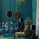 Peacock Blue Bedroom