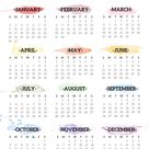 2022 One Page Calendar Printable - Watercolor | Paper Trail Design
