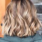 Short hair blonde balayage