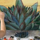 Agave time lapse with artist, Dionne Woods