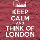 Behalten Sie Ruhe und denken Sie an London  Streifen  8 x 11 | Etsy