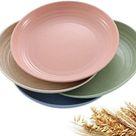 Teller Umweltfreundlich Weizenstroh Kleine Teller Unzerbrechlich Kuchenteller 20cm 4 Stück