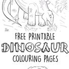 Dinosaur Colouring Pages - In The Playroom