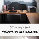 DIY Malerprojekt: Mountains are calling - Yeah Handmade